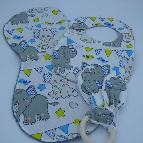 Ensemble de naissance garcon theme elephants