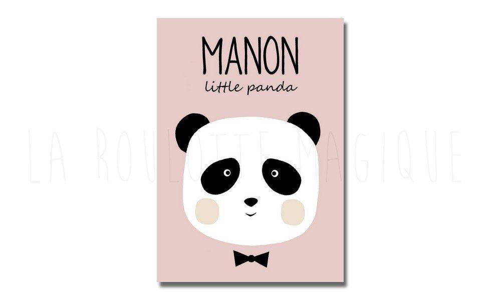 Affiche personnalisée Panda