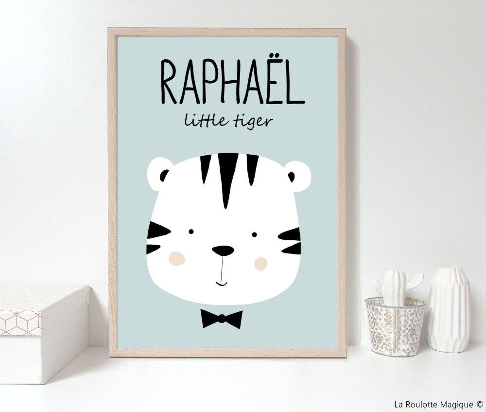 Affiche personnalisée Tigre