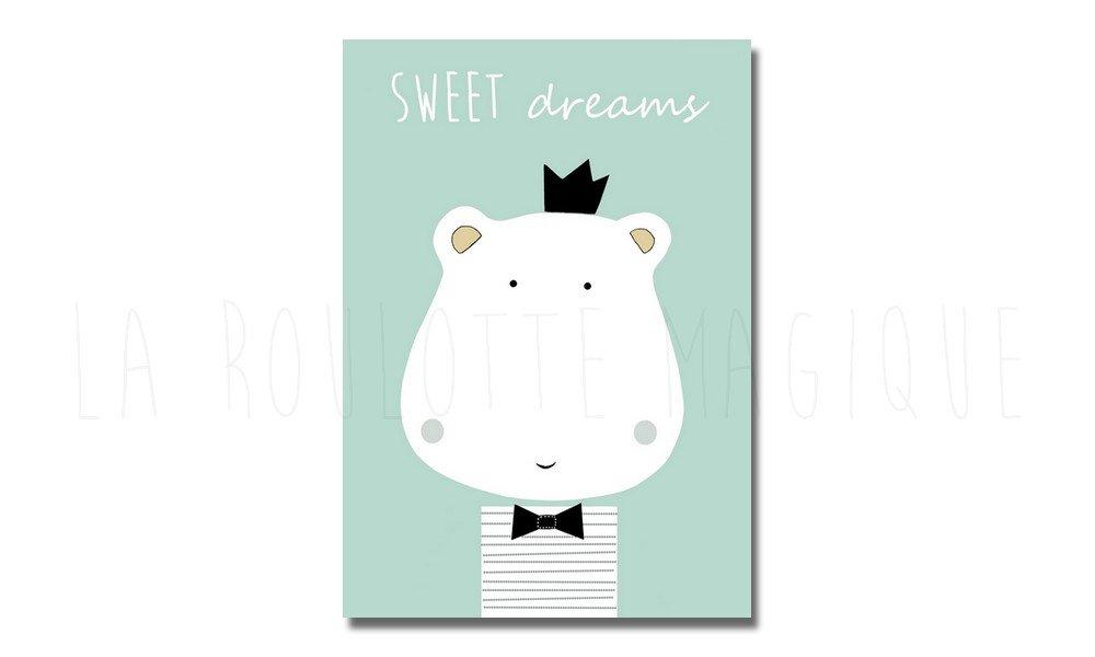 Affiche Hippopotame