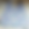 Bavoir lapin bleu et violet
