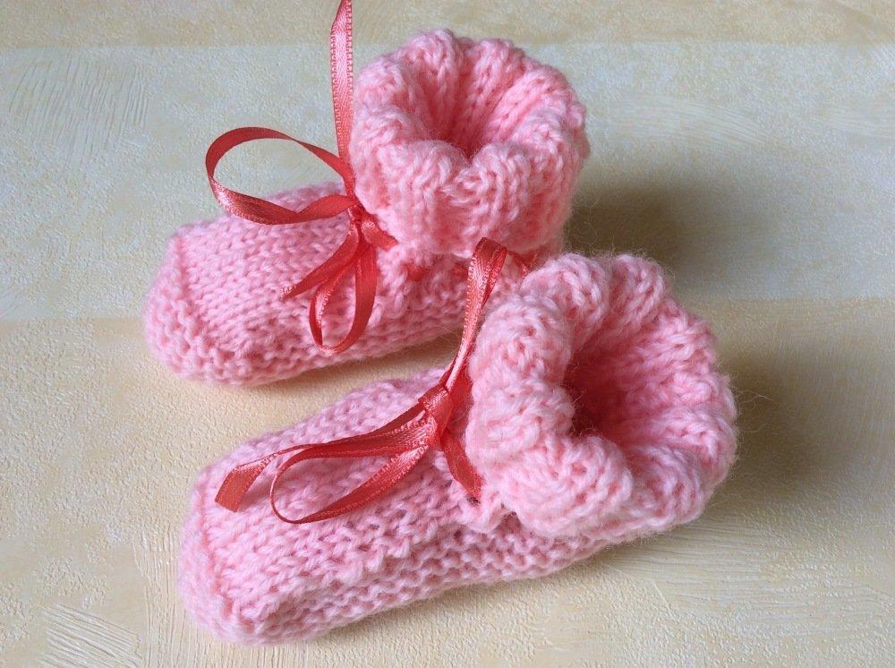 Chaussons bébé rose 0/3 mois