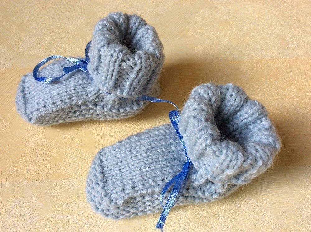 Chaussons bébé bleu clair  0/3 mois