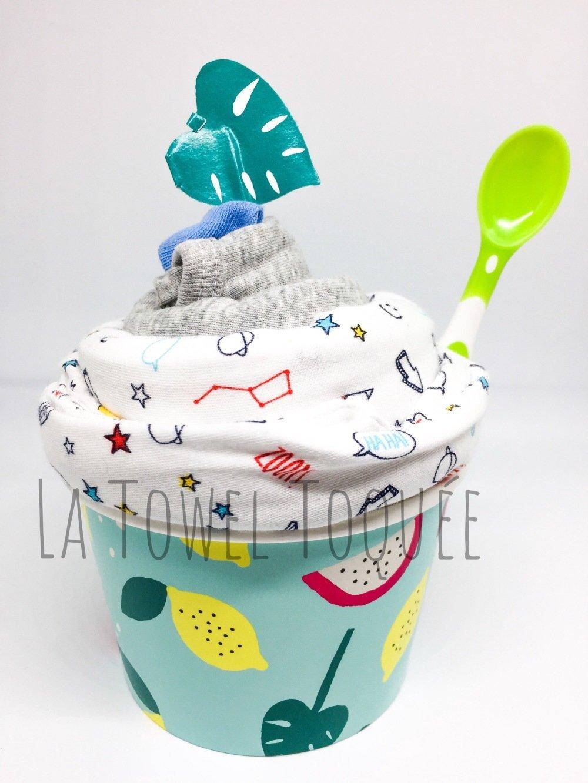 Cadeau de naissance - Coupe de pyjama body chaussette - Cadeau de Bébé original