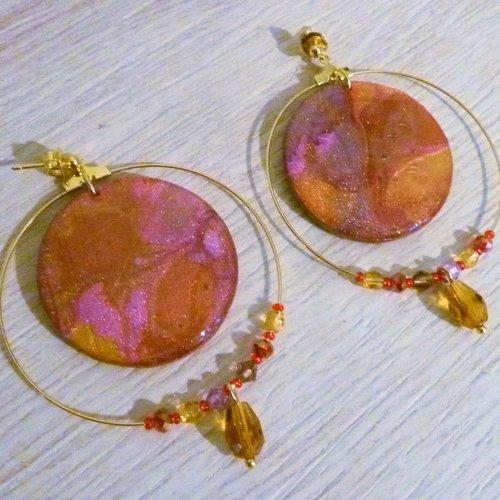 Boucles d'oreilles ékla roses