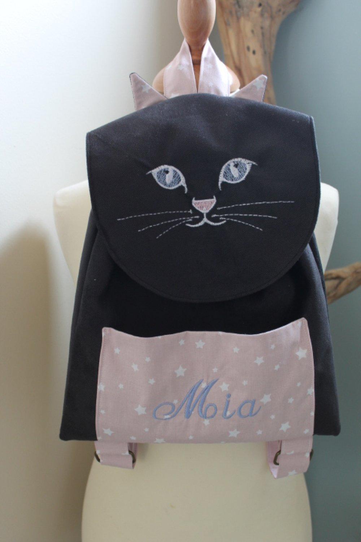 Sac à dos chat personnalisé