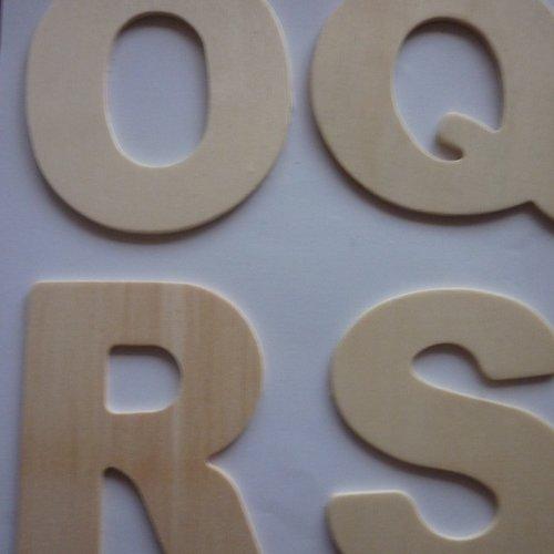 alphabet en bois x 162 LETTRES MAJUSCULES à peindre coller embosser 1,3cm DIY