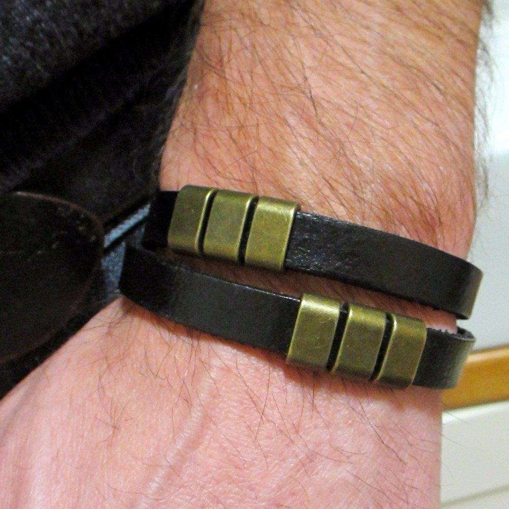 homme bracelet cuir large