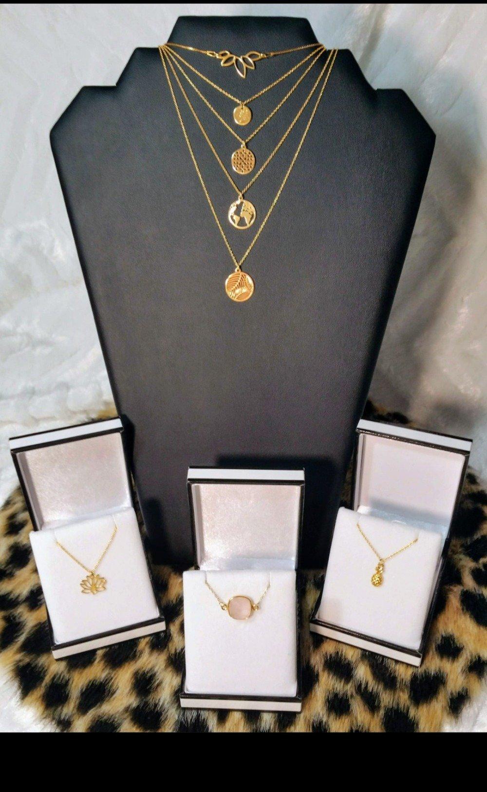 Collier quartz rose or, pendentif quartz rose, or vermeil, argent 925 doré 24k, collier femme, ras de cou, stacking, idée cadeau