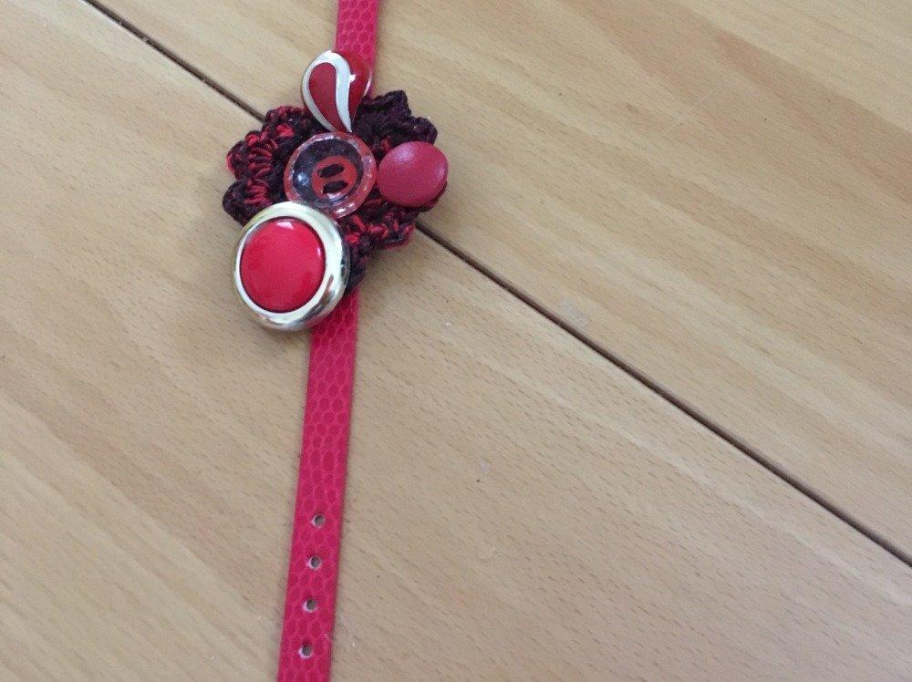 """bracelet """"rouge baiser"""""""