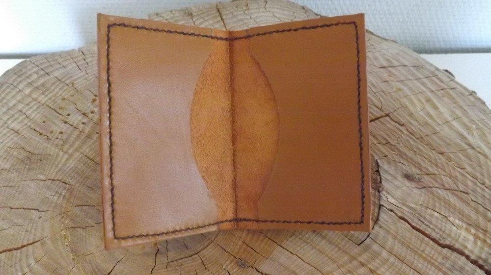 Cb03- Etui Cartes bancaires en cuir marron