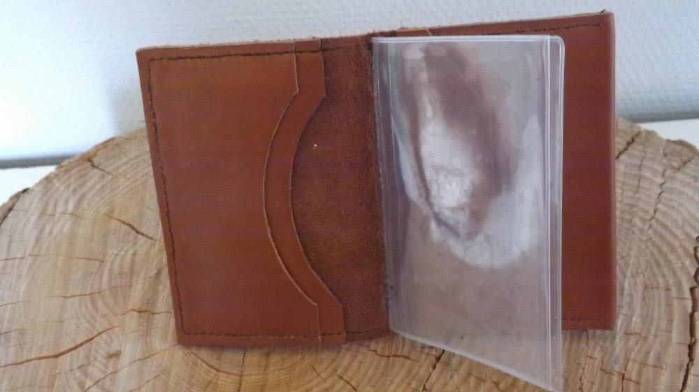 Pf01- Portefeuille en cuir marron