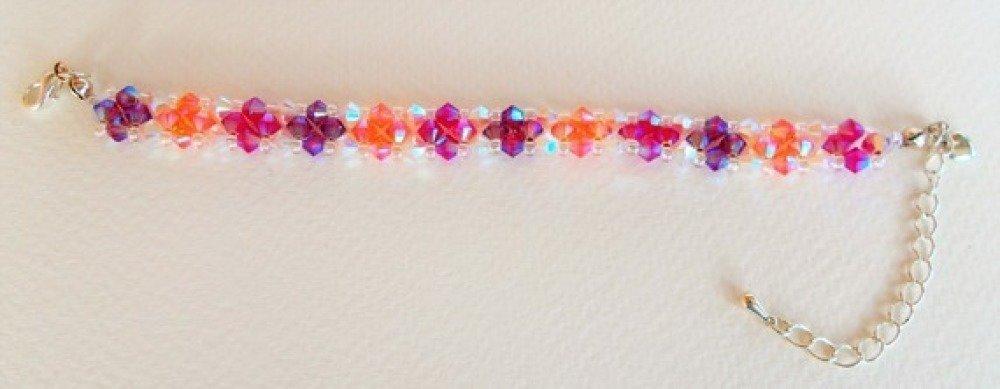 Bracelet tissé en perles Swarovski