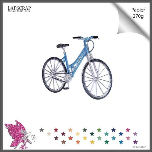 Découpe scrapbooking, vélo enfant femme homme, balade nature, découpe papier die cut album carte