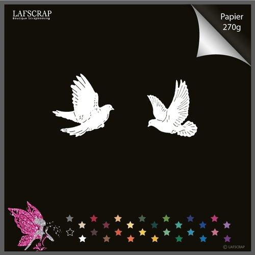 Découpes scrapbooking, animal oiseau colombe, plume mariage noces découpe papier die cut scrap embellissement album