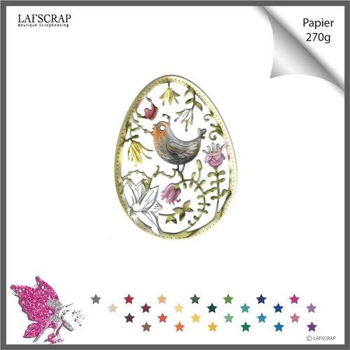 Découpe scrapbooking oeuf animal oiseau, plume, fête pâques cadre découpe papier embellissement die cut scrap