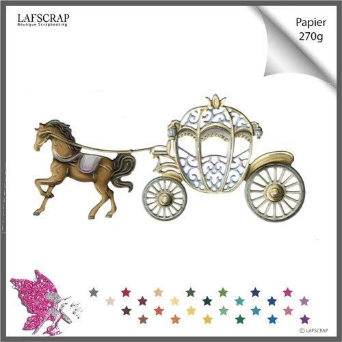 Découpe scrapbooking scrap carrosse cheval animal princesse fée mariage noces citrouille découpe papier embellissement