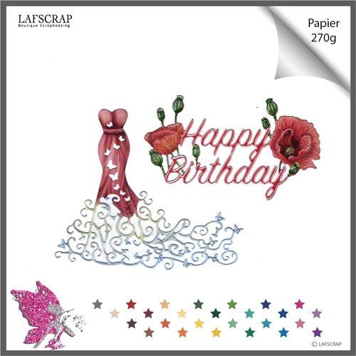 Découpes scrapbooking robe bustier,  princesse papillon animal, mariage noces, fleur coquelicot, fête anniversaire, découpe papier