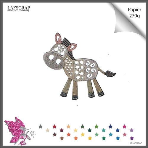 Découpe scrapbooking cheval âne, animal patchwork, enfant, bébé, naissance découpe papier  embellissement album scrap die cut déco