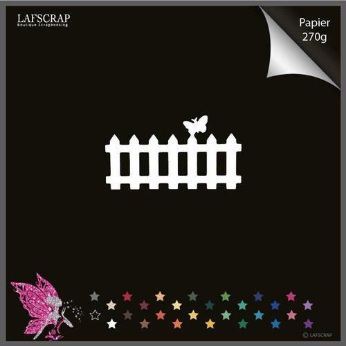 Découpe scrapbooking scrap barrière papillon animal jardin découpe papier die cut création