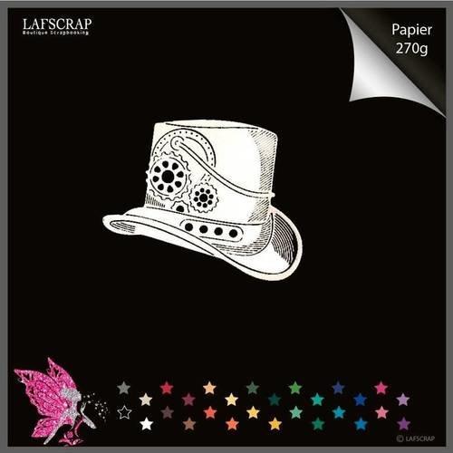 Découpe scrapbooking chapeau homme steampunk découpe papier embellissement