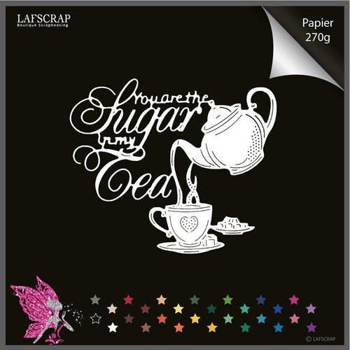 Découpe scrapbooking  cuisine théière tasse sucre gâteau pâtisserie dessert thé mot découpe papier embellissement die cut créat