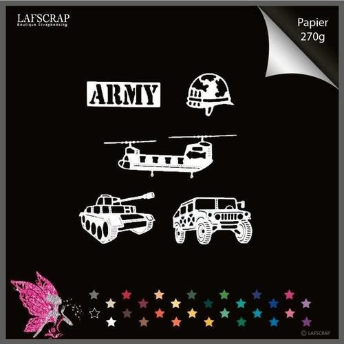 Lot découpes scrapbooking usa armée militaire états-unis mot casque hélicoptère camion découpe papier embellissement décoration album photo