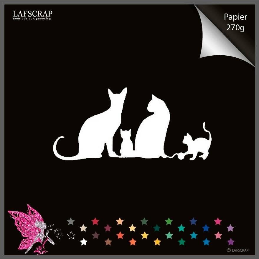 Découpe scrapbooking, chat, animal découpe papier embellissement carte création album  photo