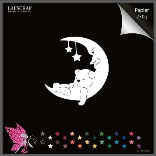 Découpe scrapbooking bébé naissance lune ours étoile découpe papier  embellissement die cut création