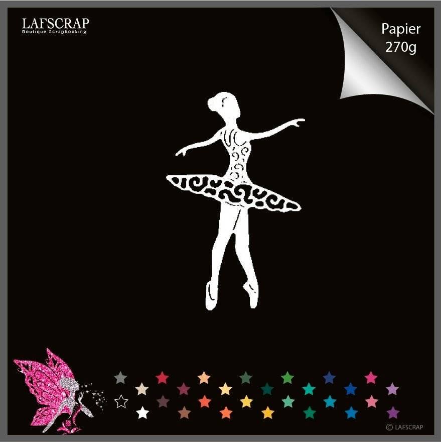 Découpe scrapbooking scrap danseuse étoile opéra scrapbooking embellissement album scrap die cut déco