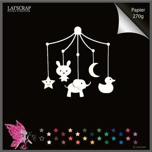 Découpe scrapbooking mobile bébé naissance lune étoile canard animaux découpe papier embellissement die cut déco
