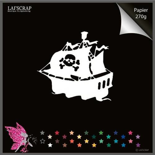 Découpe scrapbooking bateau pirate découpe papier embellissement die cut création