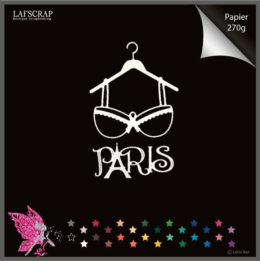 découpes scrapbooking lingerie cintre mot paris tour eiffel découpe papier embellissement die cut création