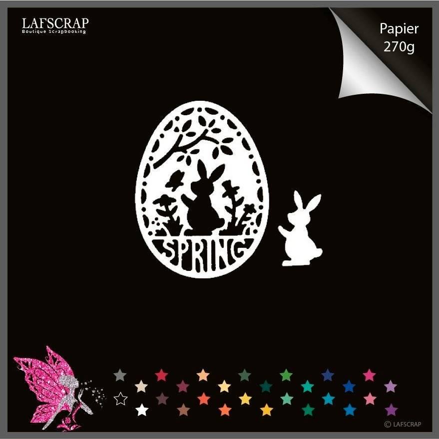 1 découpe scrapbooking scrap oeuf de Pâques lapin animal découpe papier embellissement die cut création