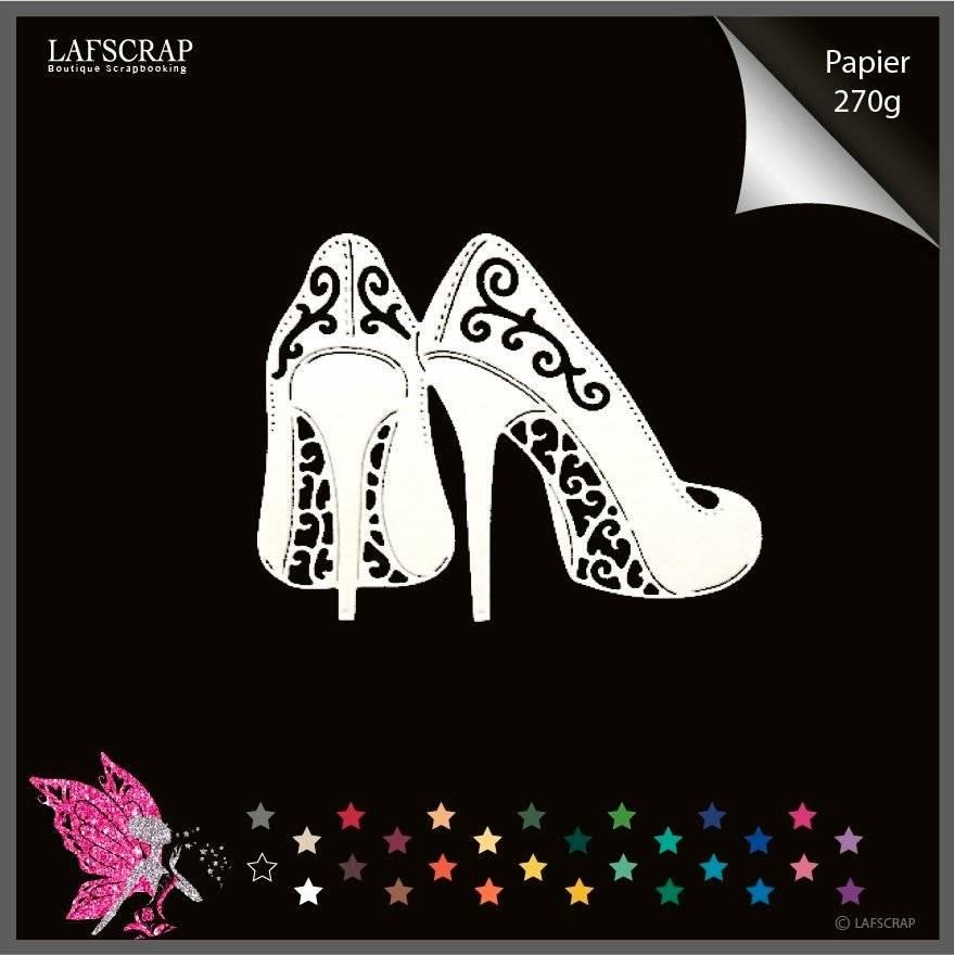 Découpe scrapbooking scrap paire escarpin chaussures mariage noces découpe papier embellissement die cut création