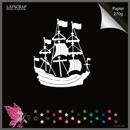 Découpe scrapbooking bateau bord de mer découpe papier embellissement die cut création