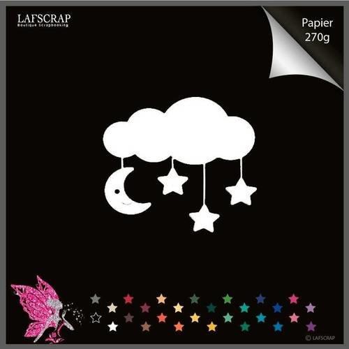 Découpe scrapbooking scrap bébé naissance nuage lune étoile découpe papier embellissement die cut déco
