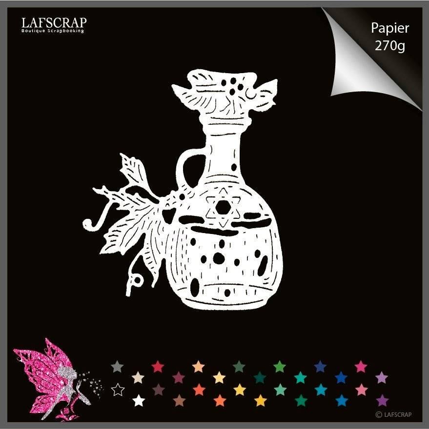 1 découpe scrapbooking scrap bouteille potion magique feuille découpe papier embellissement die cut création