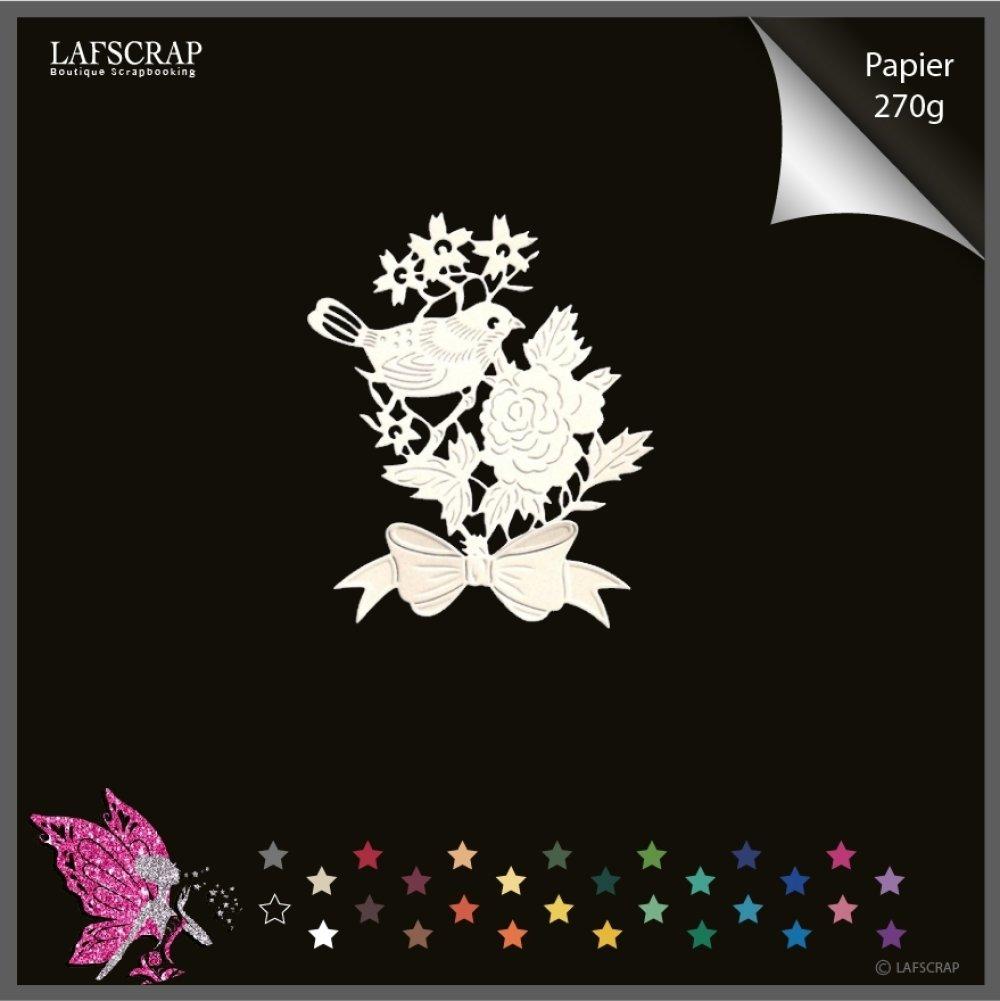 découpes scrapbooking animal oiseau noeud fleur découpe papier embellissement die cut création