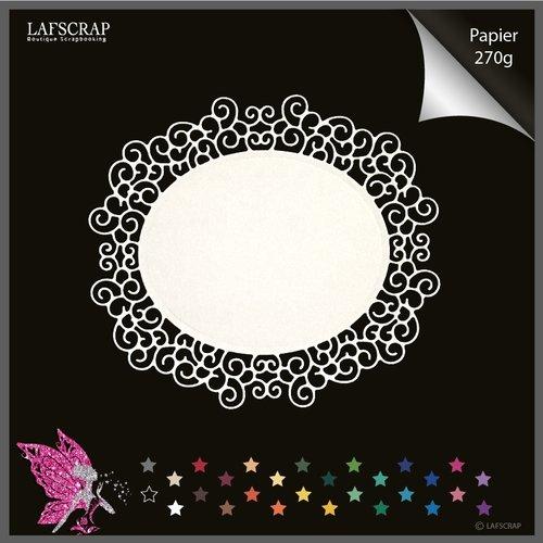 Découpe scrapbooking scrap cadre baroque étiquette découpe papier embellissement die cut création