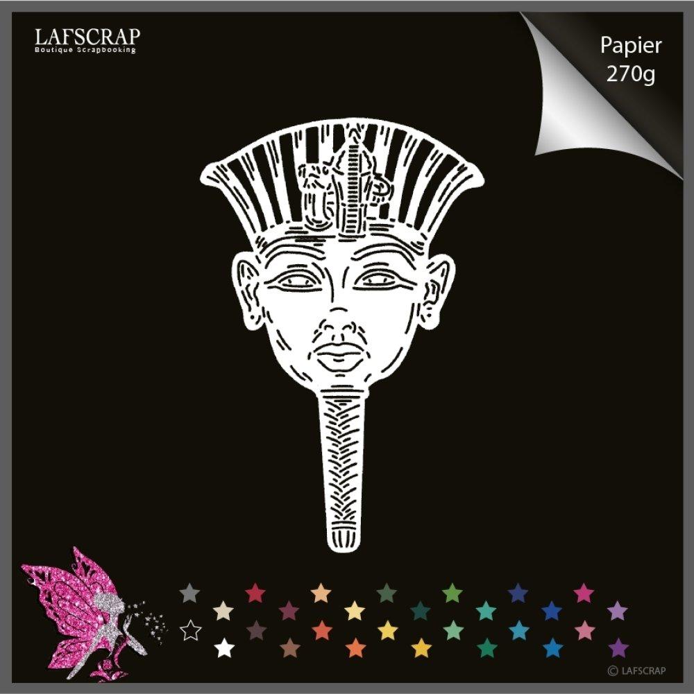 Découpe scrapbooking, personnage dieu pharaon, prince Egypte, voyage découverte musée découpe papier