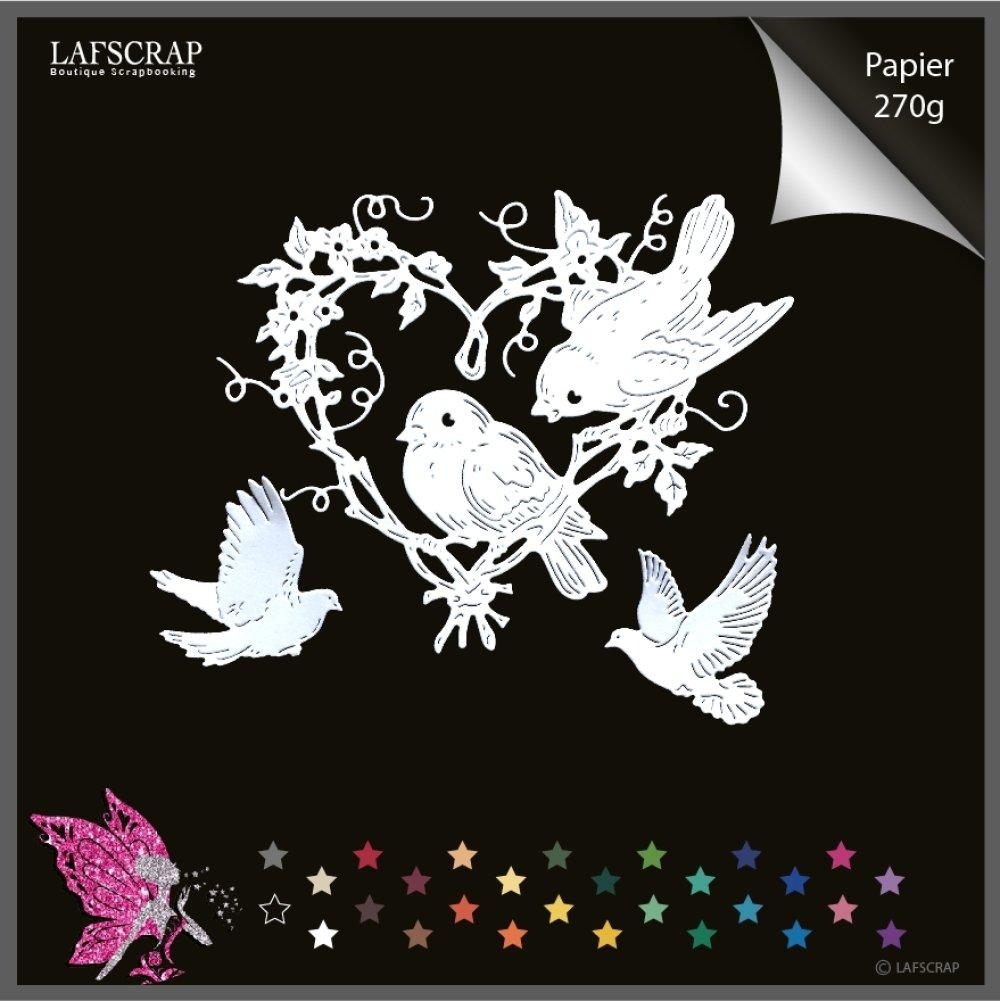 Découpes scrapbooking coeur oiseau animal, mariage noces,  colombe oiseau,  bébé naissance découpe papier