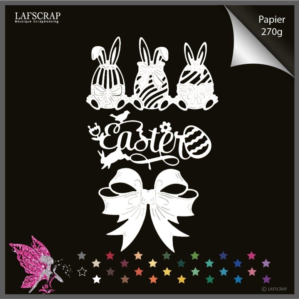 Découpes scrapbooking bordure lapin oeuf, pâques mot easter, animal fleur , noeud, bébé naissance  découpe papier