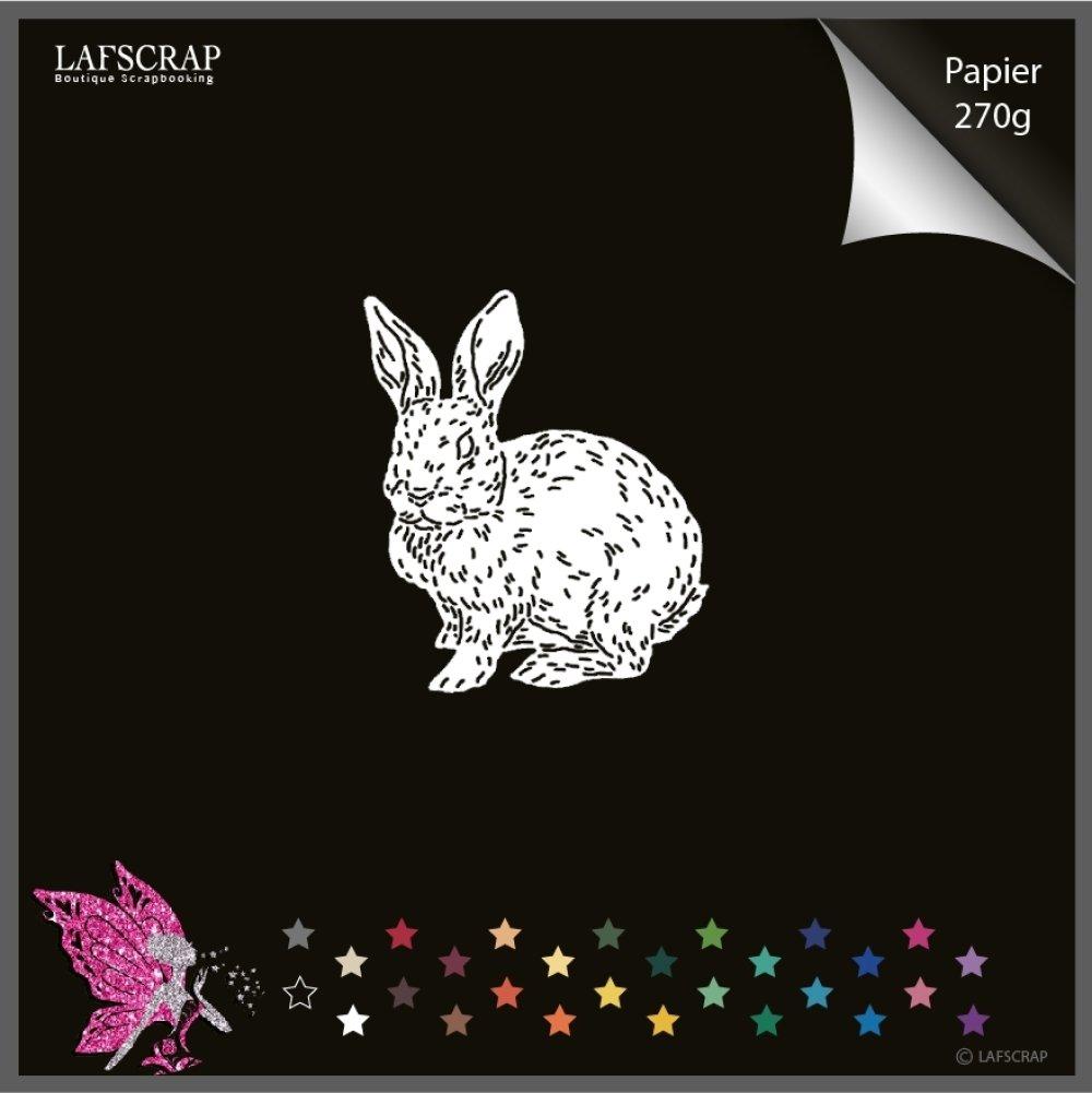 Découpe scrapbooking, lapin animal, pâques easter, bébé naissance découpe papier embellissement