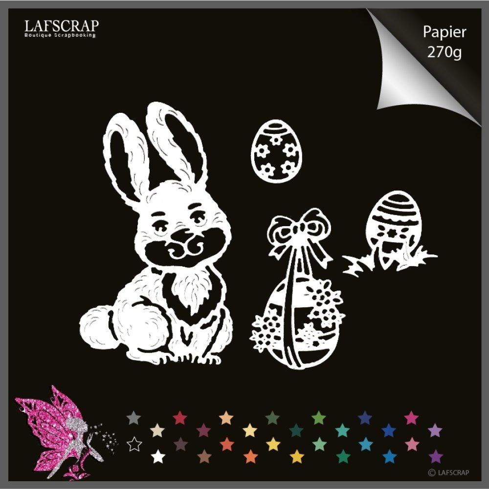 Découpes scrapbooking lapin animal, pâques easter, oeuf noeud, bébé naissance découpe papier embellissement album