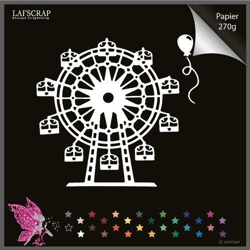 1 découpe scrapbooking manège fête foraine, grande roue, ballon, anniversaire découpe papier embellissement
