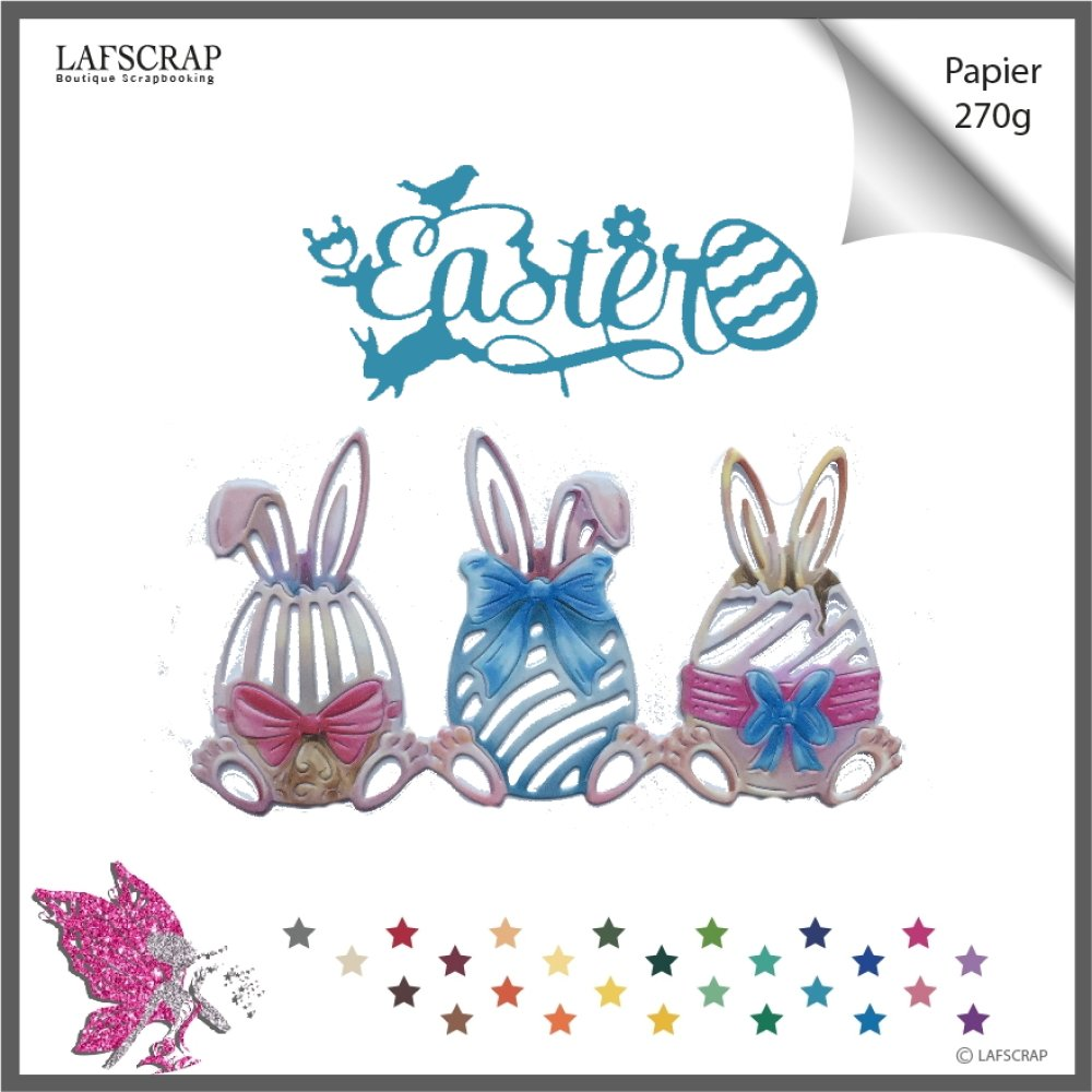 Découpes scrapbooking bordure lapin oeuf, pâques mot easter, animal fleur , animal, bébé naissance  découpe papier