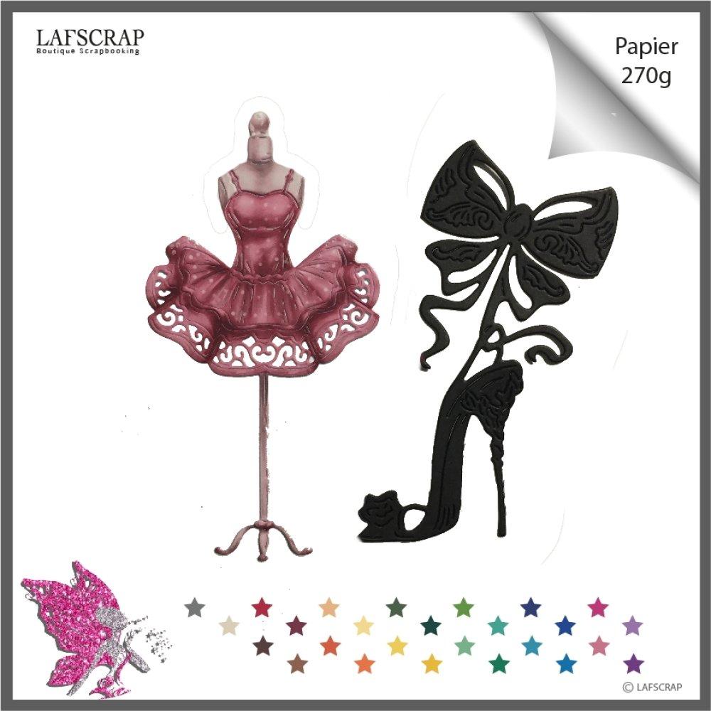 lot découpes scrapbooking, chaussure escarpin princesse, mariage noces, noeud, mannequin robe princesse tutu couture  découpe papier