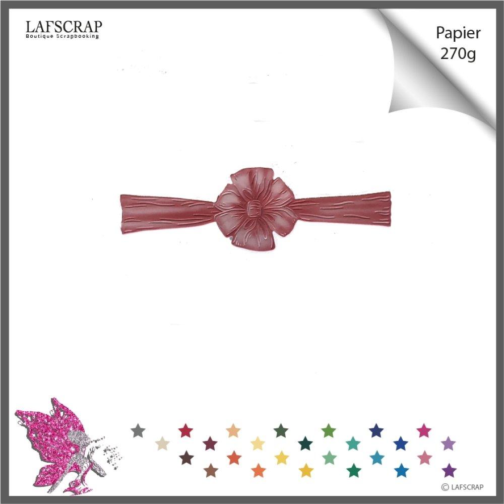 Découpes scrapbooking, fleur ruban, noeud mariage noces décor carte bébé naissance, découpe papier
