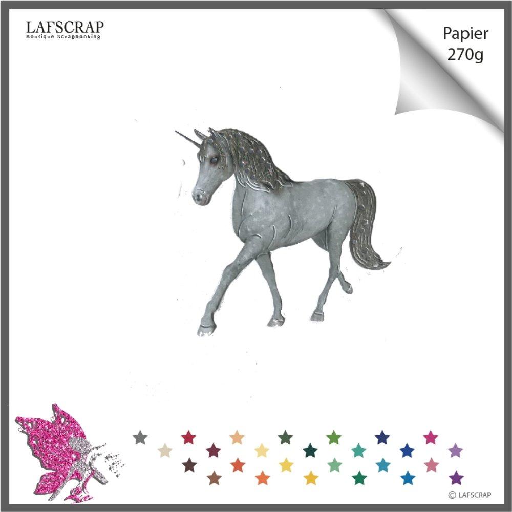 Découpe scrapbooking  animal cheval, licorne étoile, féérie magie  princesse fée découpe papier embellissement faire part album